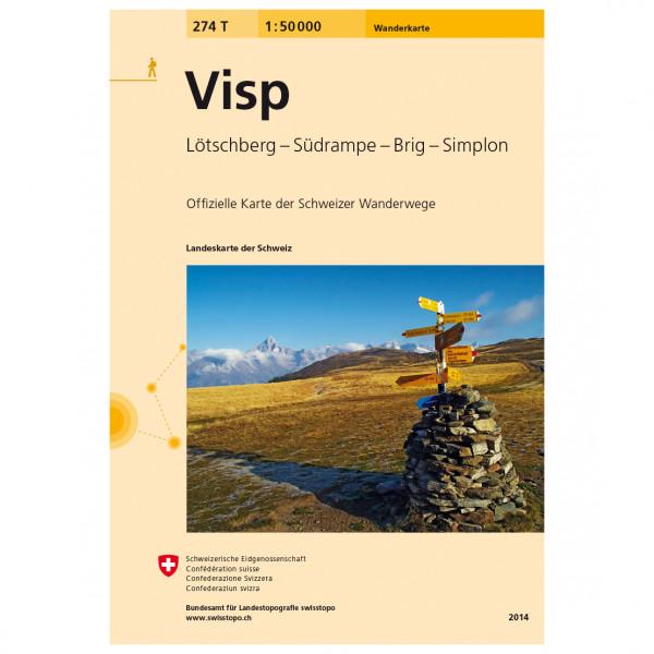 Swisstopo -  274 T Visp - Vandringskartor
