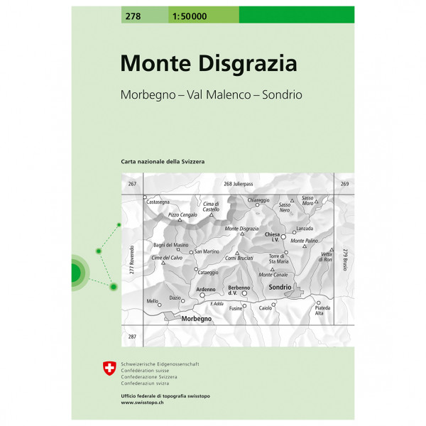 Swisstopo - 278 Monte Disgrazia - Vaelluskartat