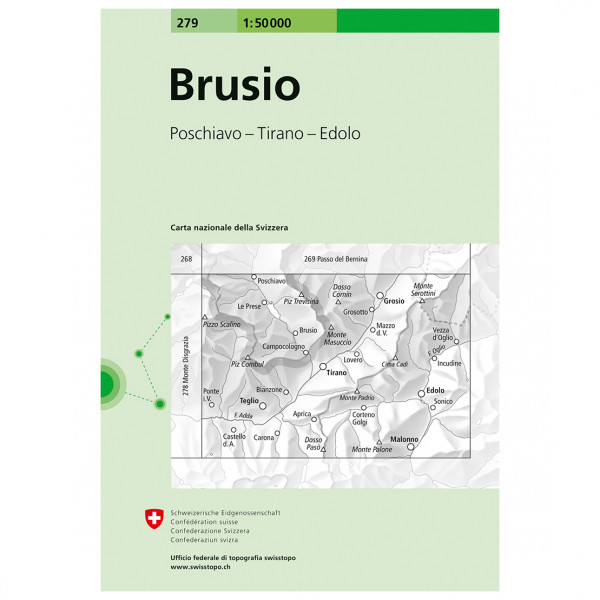Swisstopo - 279 Brusio - Vaelluskartat