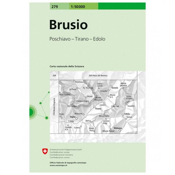 Swisstopo - 279 Brusio - Vandringskartor