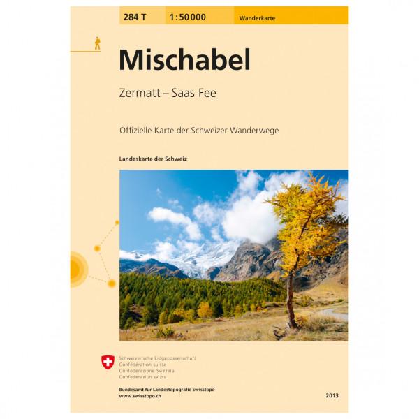 Swisstopo - 284 T Mischabel - Hiking map