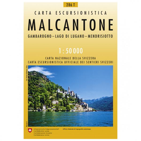 Swisstopo - 286 T Malcantone - Vandrekort