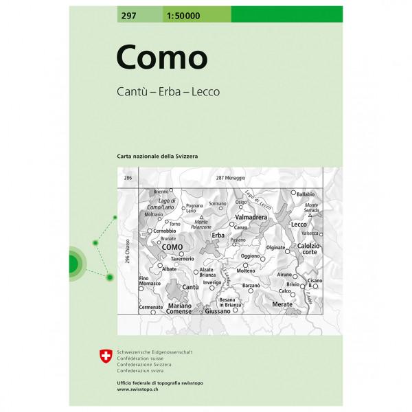 Swisstopo - 297 Como - Wandelkaarten