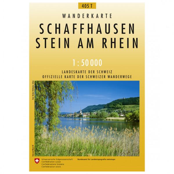 Swisstopo - 405 T Schaffhausen/Stein am Rhein - Carte de randonnée