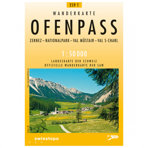 Swisstopo - 459 T Ofenpass - Vaelluskartat