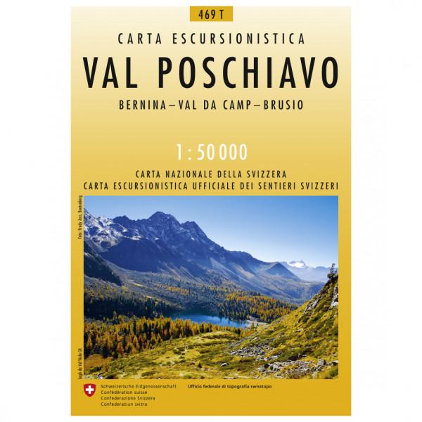 Swisstopo - 469 T Val Poschiavo - Wandelkaart