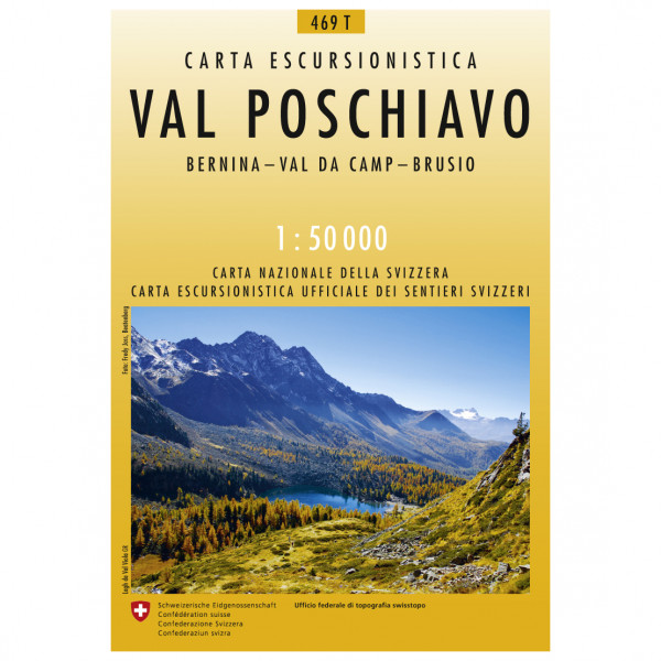 Swisstopo - 469 T Val Poschiavo - Wanderkarte