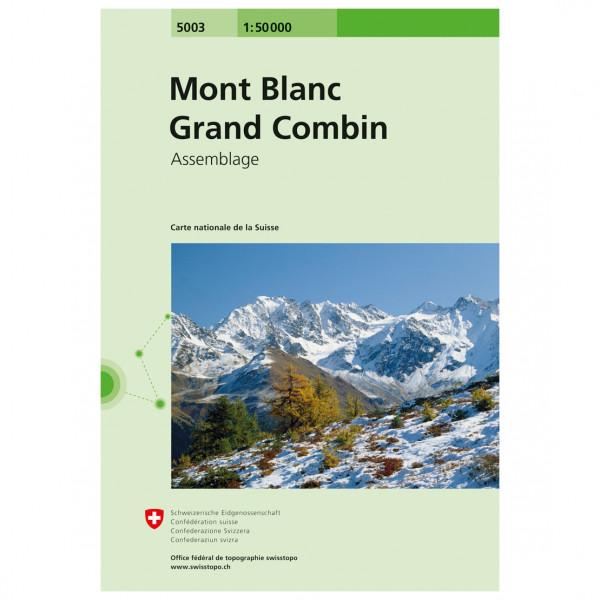 Swisstopo - 5003 Mont Blanc/Grand Combin - Wandelkaart