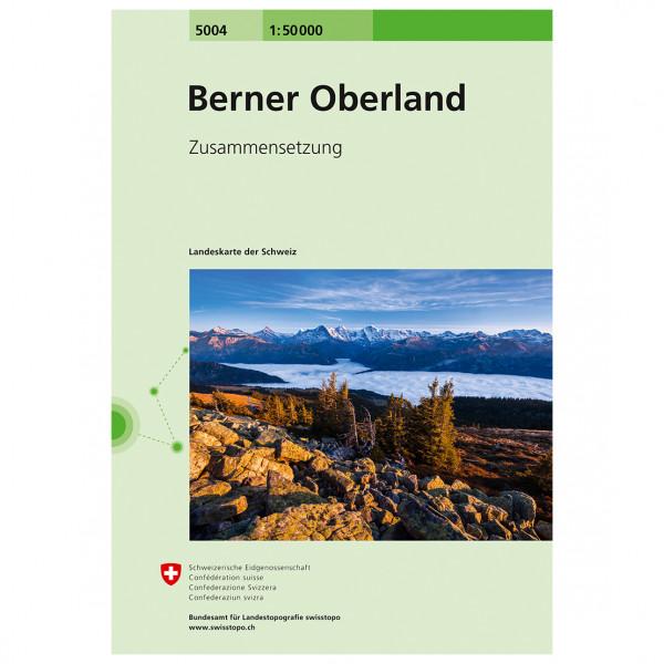 Swisstopo - 5004 Berner Oberland - Mapa de senderos