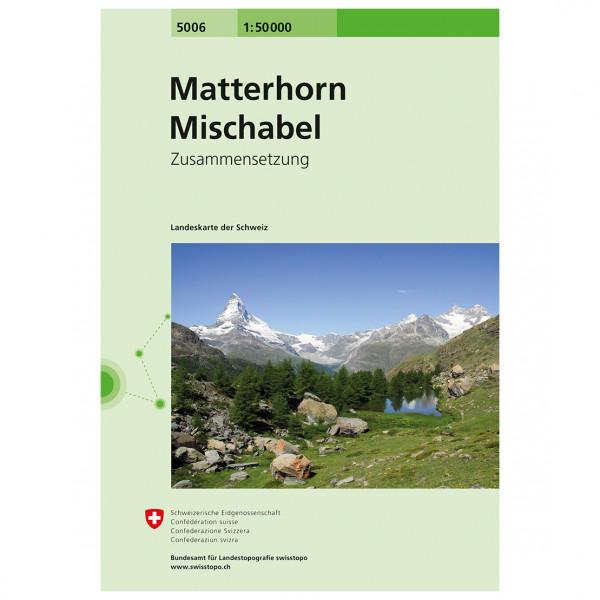 Swisstopo - 5006 Matterhorn-Mischabel - Vandrekort