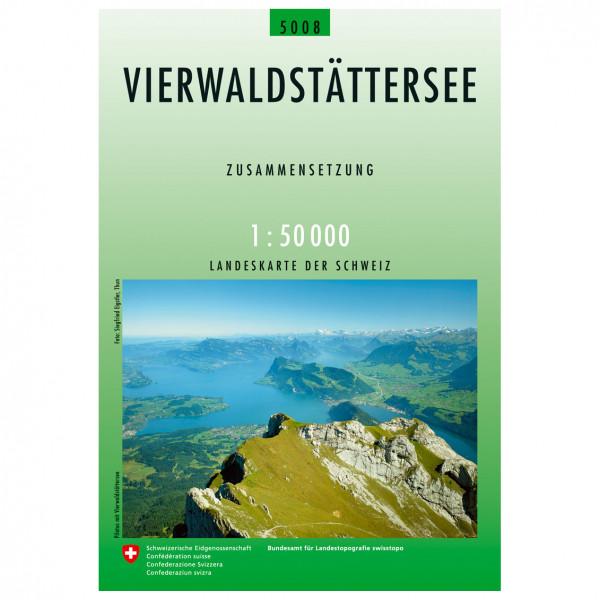 Swisstopo - 5008 Vierwaldstättersee - Wandelkaart