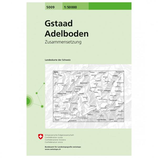 Swisstopo - 5009 Gstaad/Adelboden - Mapa de senderos