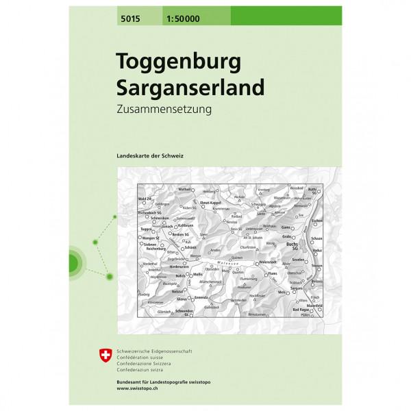 5015 Toggenburg/Sarganserland - Hiking map