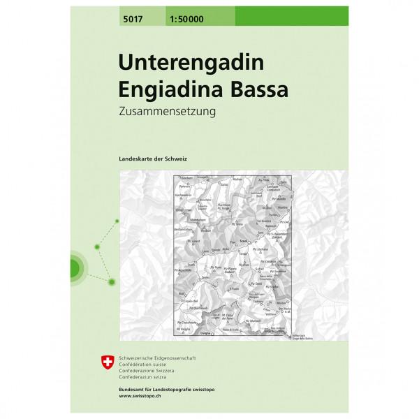 Swisstopo - 5017 Unterengadin - Vandringskartor