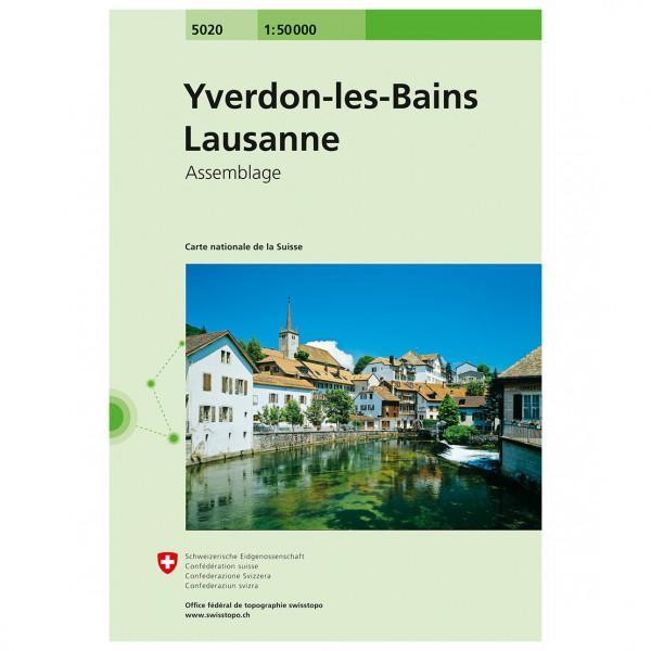 Swisstopo - 5020 Yverdon-les-Bains/Lausanne - Vandrekort