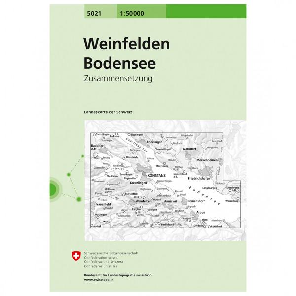 Swisstopo - 5021 Weinfelden/Bodensee - Hiking map