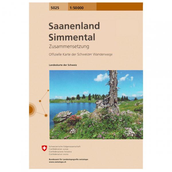 Swisstopo - 5025 T Saanenland-Simmental - Wanderkarte