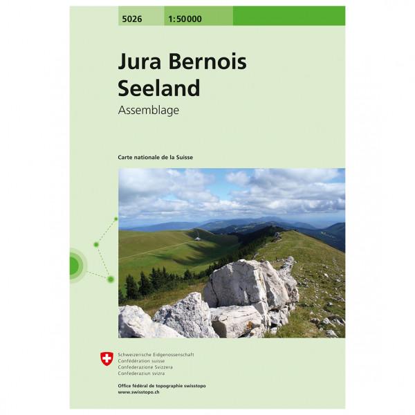 Swisstopo - 5026 Jura Bernois - Seeland - Hiking map