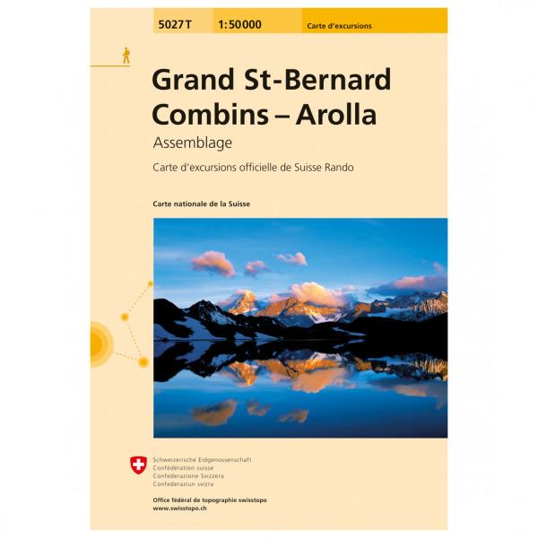 Swisstopo - 5027 T Grand St-Bernhard - Combins - Arolla - Vandrekort