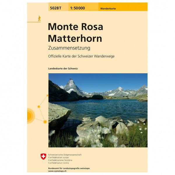 Swisstopo - 5028 T Monte Rosa - Matterhorn - Vaelluskartat