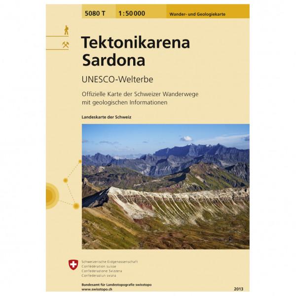 Swisstopo - 5080 T Tektonikarena Sardona - Hiking map