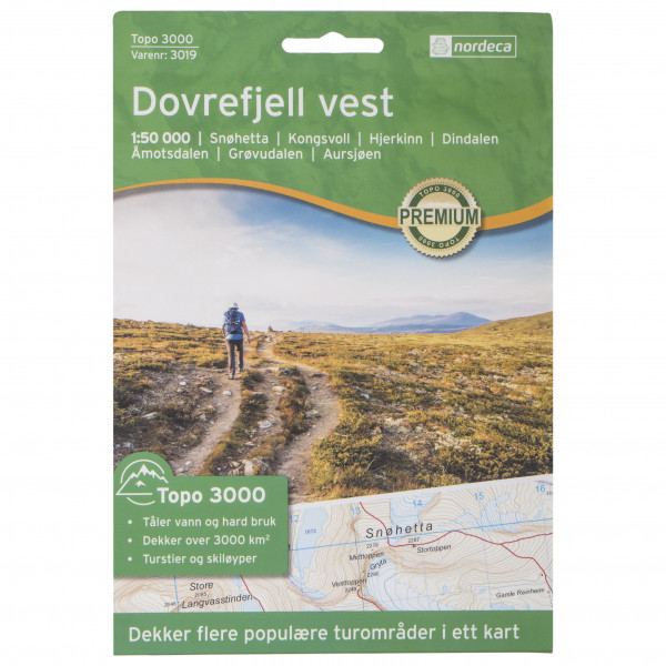 Nordeca - Dovrefjell Vest 1/50 - Vandringskartor