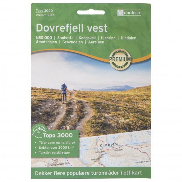 Nordeca - Dovrefjell Vest 1/50 - Wandelkaarten