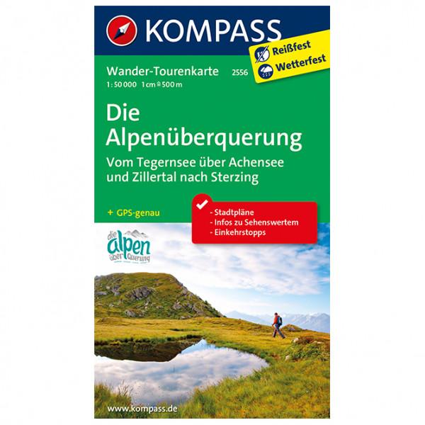 Kompass - Die Alpenüberquerung Tegernsee Achensee Zillertal - Hiking map