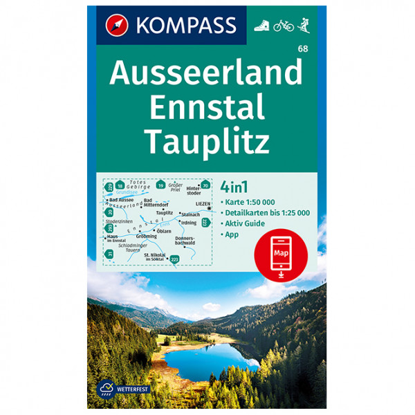 Wanderkarte Ausseerland, Ennstal, Tauplitz - Hiking map
