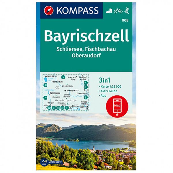 Kompass - Wanderkarte Bayrischzell Schliersee Fischbachau - Vandrekort