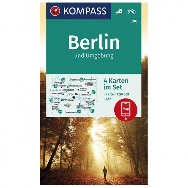 Kompass - Wanderkarte Berlin und Umgebung - Vandrekort