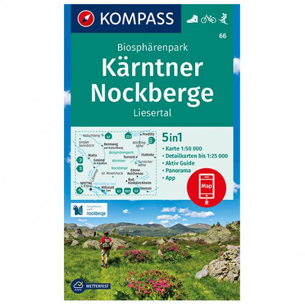 Kompass - Wanderkarte Biosphärenpark Kärntner Nockberge - Vandrekort