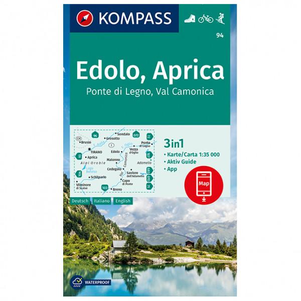 Kompass - Wanderkarte Edolo Aprica Ponte di Legno - Vandrekort