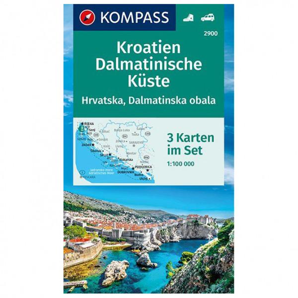 Kompass - Wanderkarte Kroatien, Dalmatinische Küste - Vandrekort