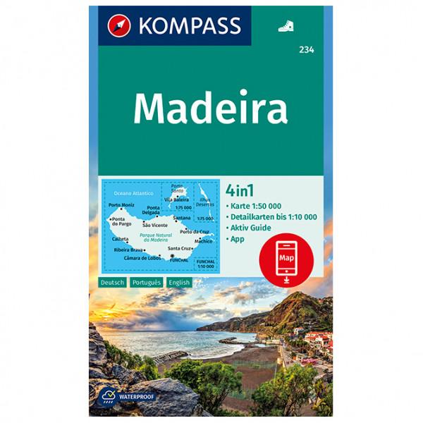Kompass - Wanderkarte Madeira - Vandrekort