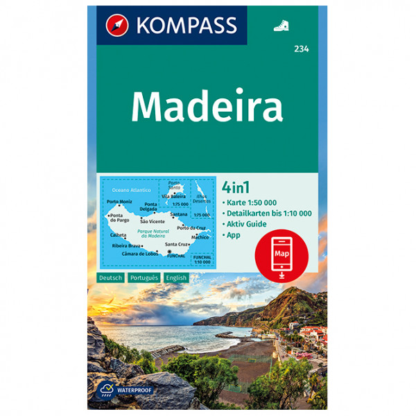 Kompass - Wanderkarte Madeira - Wandelkaarten