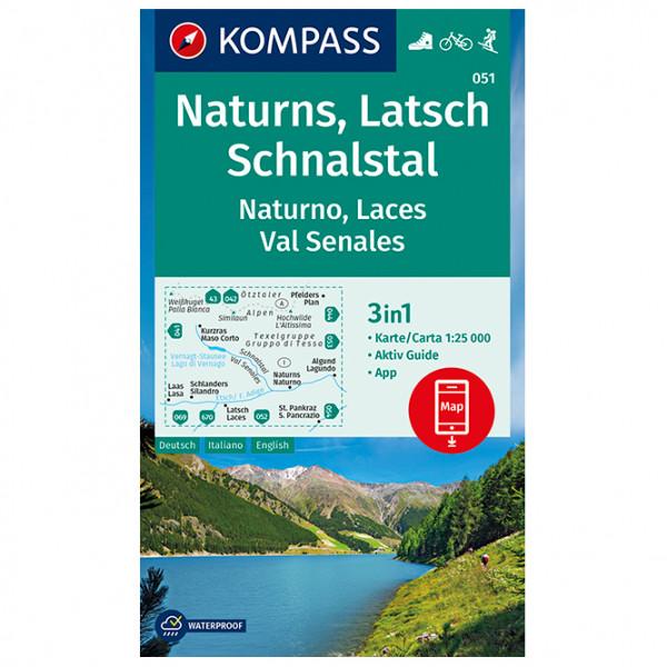 Kompass - Wanderkarte Naturns Latsch Schnalstal Naturno - Vandrekort