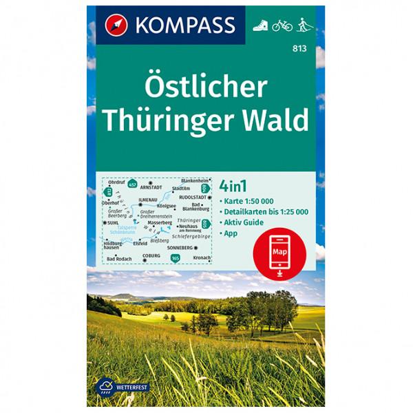 Kompass - Wanderkarte Östlicher Thüringer Wald - Vaelluskartat