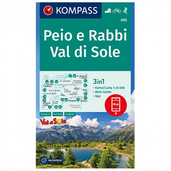 Kompass - Wanderkarte Peio e Rabbi, Val di Sole - Wanderkarte