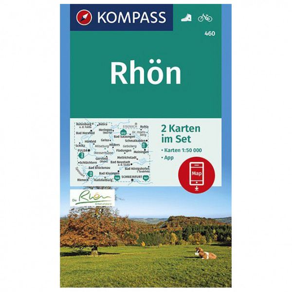 Kompass - Wanderkarte Rhön - Wandelkaarten