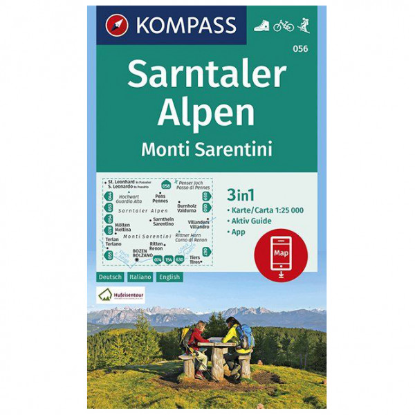 Kompass - Wanderkarte Sarntaler Alpen, Monti Sarentini - Hiking map
