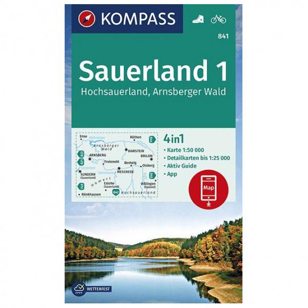 Kompass - Wanderkarte Sauerland 1 Hochsauerland Arnsberger - Wandelkaarten