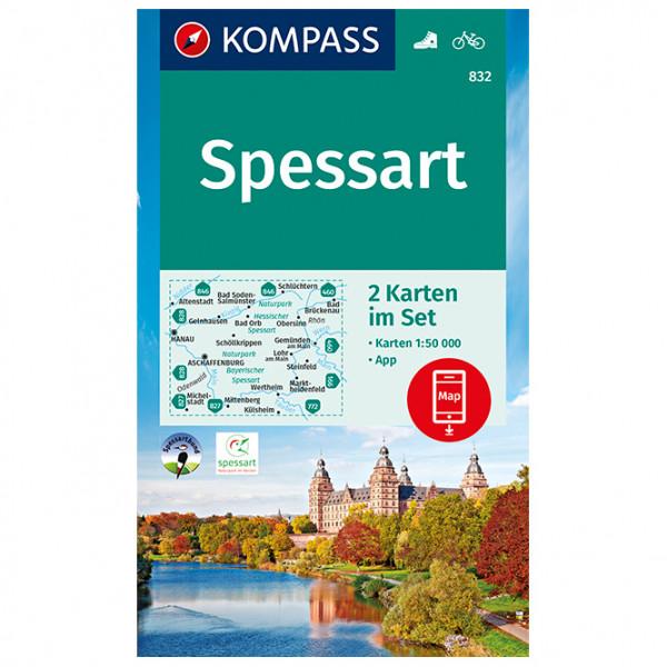 Kompass - Wanderkarte Spessart - Mapa de senderos