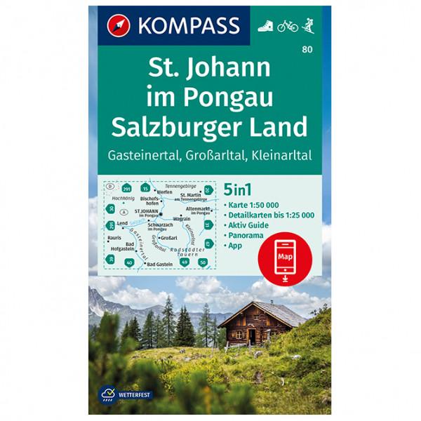 Kompass - Wanderkarte St. Johann im Pongau, Salzburger Land - Wandelkaarten