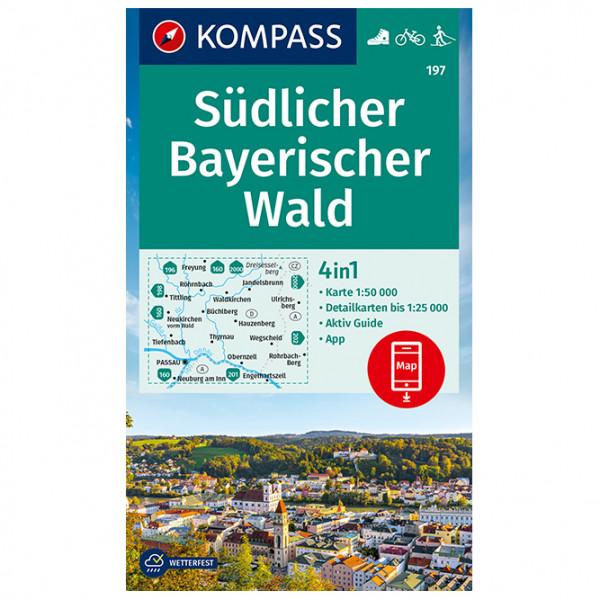 Kompass - Wanderkarte Südlicher Bayerischer Wald - Vandrekort
