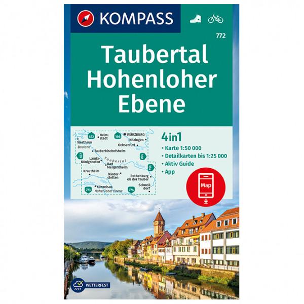 Kompass - Wanderkarte Taubertal, Hohenloher Ebene - Wanderkarte