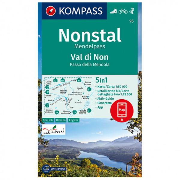 Kompass - Wanderkarte Val di Non, Nonstal - Wandelkaarten