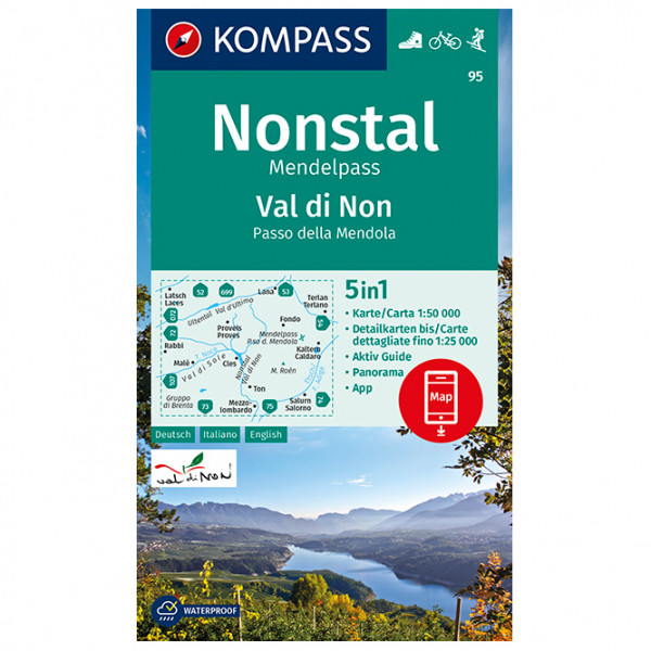 Kompass - Wanderkarte Val di Non, Nonstal - Vandrekort