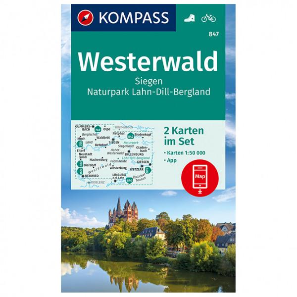 Kompass - Wanderkarte Westerwald Siegen - Wanderkarte