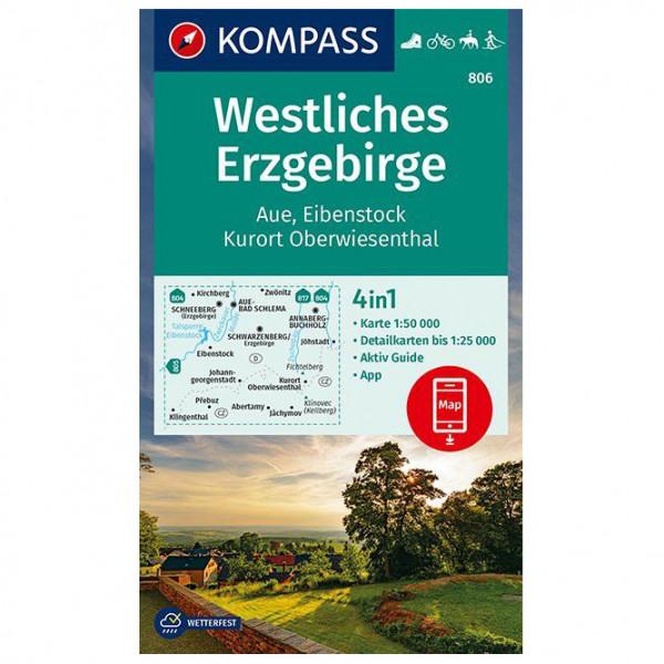 Kompass - Wanderkarte Westliches Erzgebirge Aue - Vandringskartor